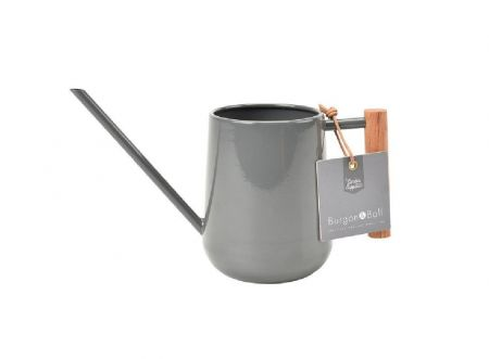 Burgon & Ball Indoor Watering Can with Wooden Handle in Charcoal Grey