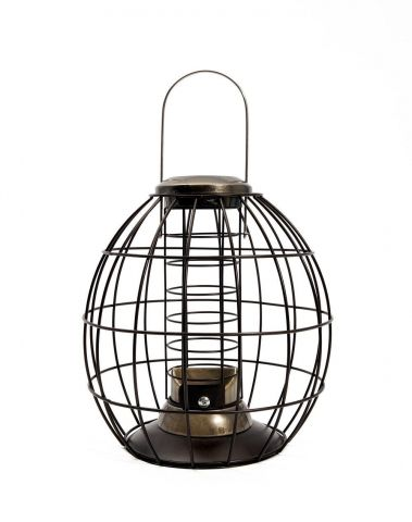 Heritage Gold Squirrel and Jackdaw Proof Wild Bird Fat Ball Feeder