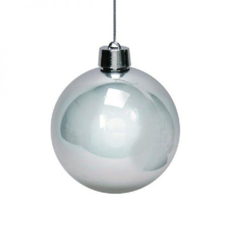 Outdoor Large Christmas Bauble x 2.(Silver) 15cm in diameter