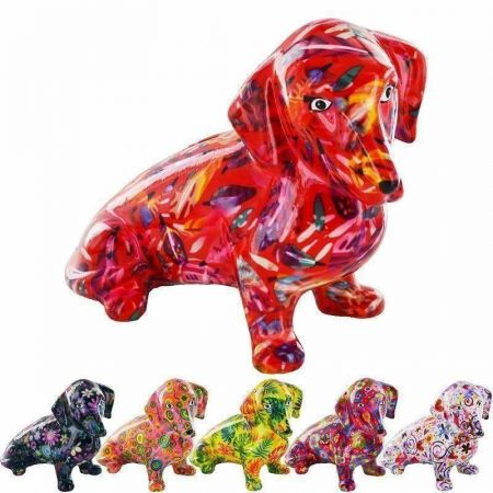 Pomme Pidou Ceramic Molly Dachshund Money Box RED x1