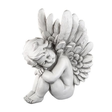Sleeping Angel Garden Statue 38cm tall