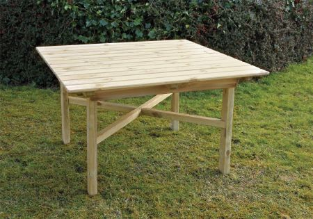 Wooden Garden Abbey Square Table