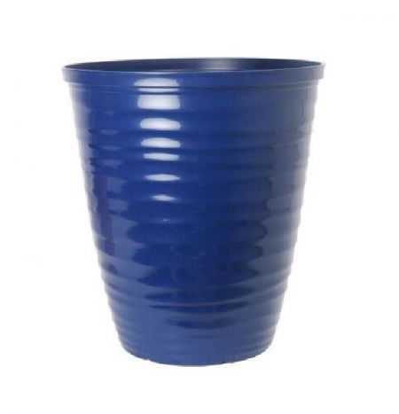 Dune Gloss Ripple Plastic Plant Pot Garden Planter IRIS BLUE colour 28cm dia.