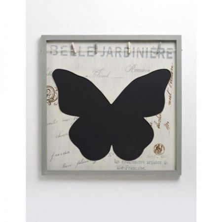 Large Butterfly Chalk and Memo Board with Clips. French Country House Style