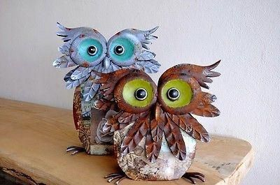 Buffy the Owl Metal Painted Ornament for indoor or out. 32.5cm tall  (large)