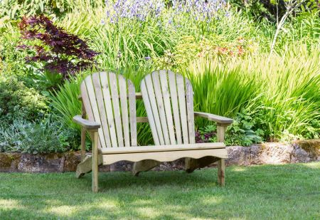 Wooden Garden Lily Relax 2 Seater Bench