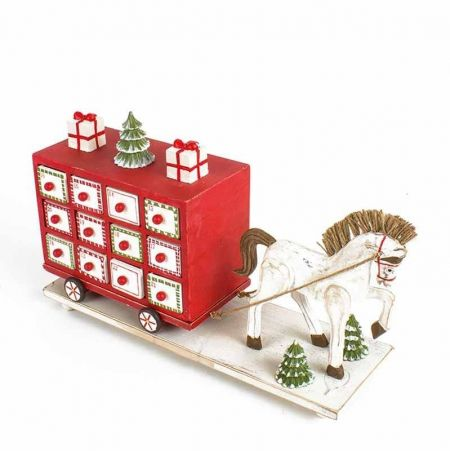 Handcrafted Advent Horse and Cart.