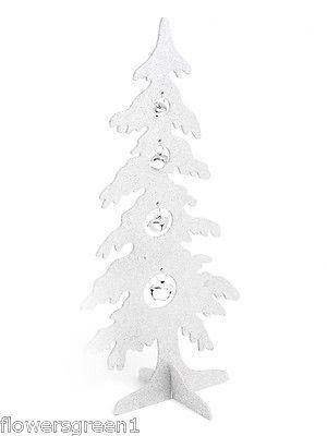 Glitter Christmas tree with bells.  48cm tall.