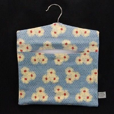 Gisela Graham Fabric Peg Bag[Blue Floral]
