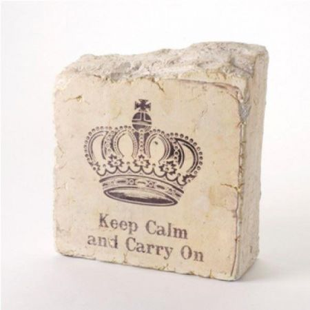 Keep Calm and Carry On Plaster Effect Door Stop