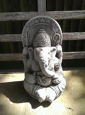 Ganesha Garden Ornament. Made from reconstituted stone. Superb Details. EF4
