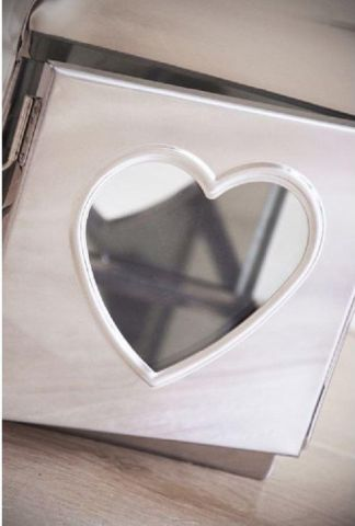 Stainless Steel Contemporary Heart Lantern