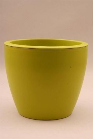 Contemporary Egg Shape LIME Plastic Flower Pot / Planter 24cm diameter. Indoors or Out