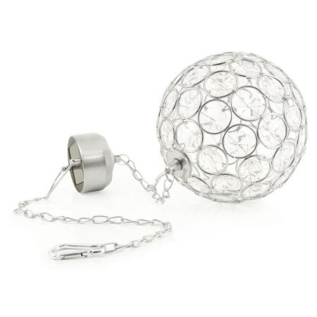 Solar Hanging Crystal Ball Light