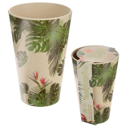 Cheese Plant Eco-Friendly Biodegradable Bamboo Cups x 2