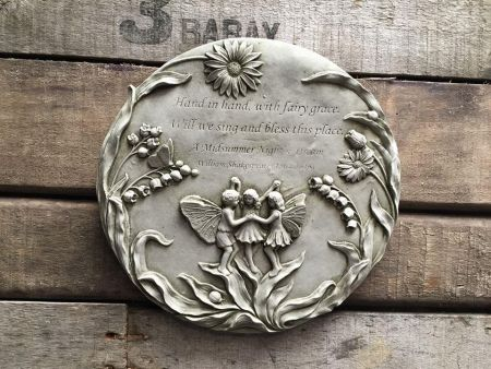 Midsummer Nights Dream Fairy Plaque Made from Reconstituted Stone