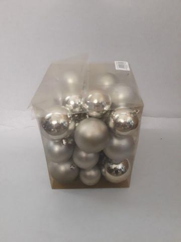 Outdoor Silver Baubles Value Pack.*SECONDS*