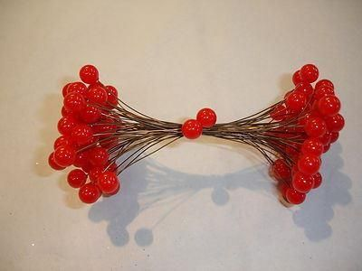 Red berry picks, double ended x 50.  Great for wreaths