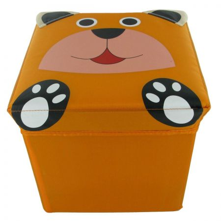 Foldable Fun Storage Box / Seat for a Child. BEAR