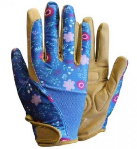 Professionelle Gardening Gloves from Briers with Blue Floral Design. Medium