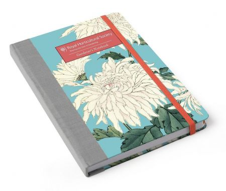 Burgon & Ball RHS A5 Gardeners Notebook - Chrysanthemum
