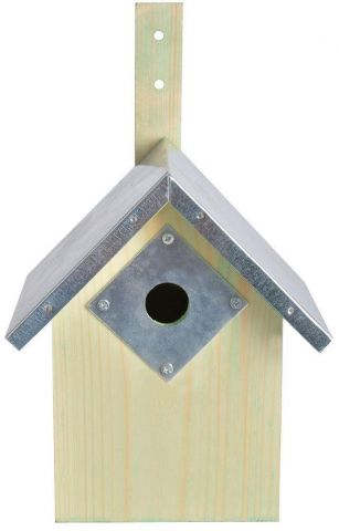 Bird Box Protection Plate Size 3 for Great Tit Boxes.  Protect from Woodpeckers