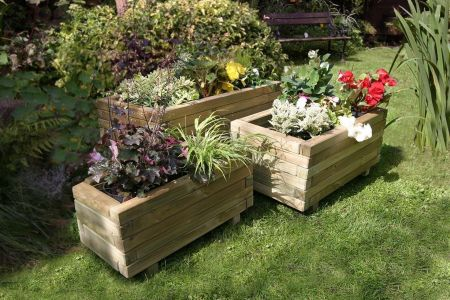 Wooden Garden Gresford Planters Set of 3 (Pack of 2)