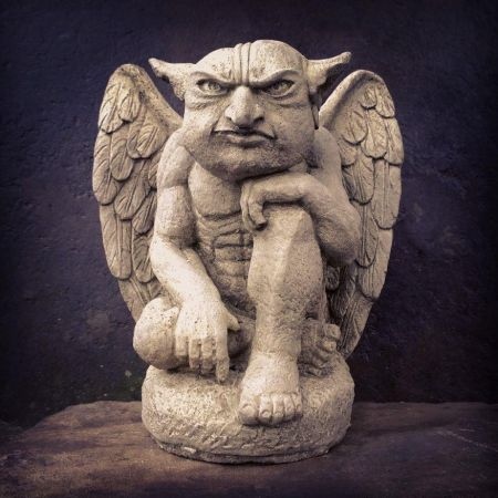 Flying Gargoyle Statue made from Reconstituted Stone.