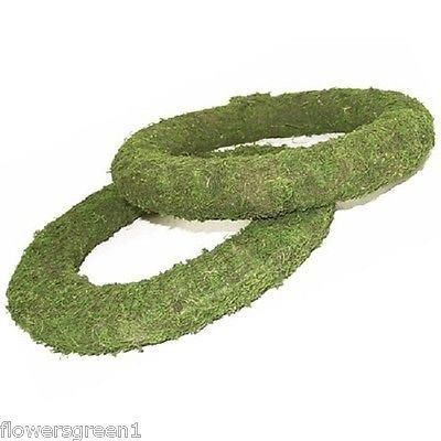 Mossed padded wreath rings x 2. Simple to make a door ring.  8""