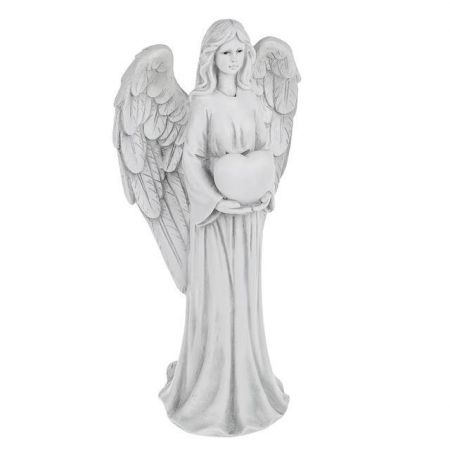 Memorial Angel with Heart Garden Ornament