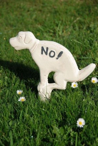 No fouling Cast Iron Dog Sign for Your Garden