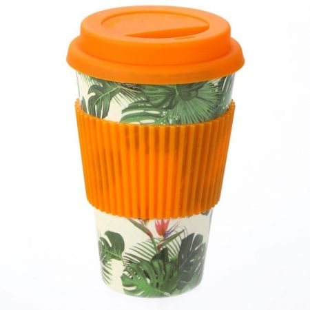 Cheese Plant Design Travel Cup Eco friendly and biodegradable