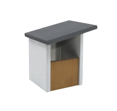 Elegance Sloping Roof Open Front Robin Nest Box Made from FSC wood
