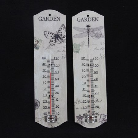 Gisela Graham Insect Postcard Metal Thermometer, BUTTERFLY