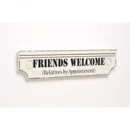 Friends Welcome Wooden Painted Sign. 43cm