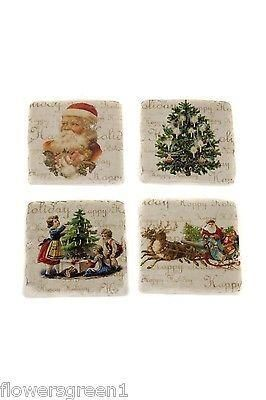 Premium quality coasters  with Christmas designs x 4.  Cork backed.