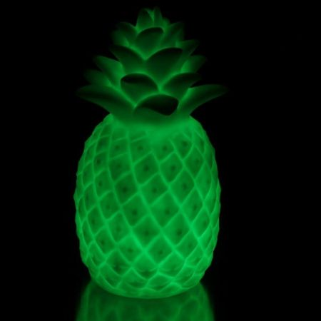Pair of Pineapple Lights with Colour Changing LED Light. Battery Operated