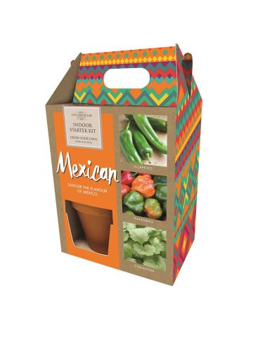 Mexican Themed Growing Gift Set with Seeds, Pots and Compost