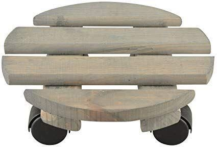 Round Plant Trolley 34cm Daiameter Made from 100% FSC Wood