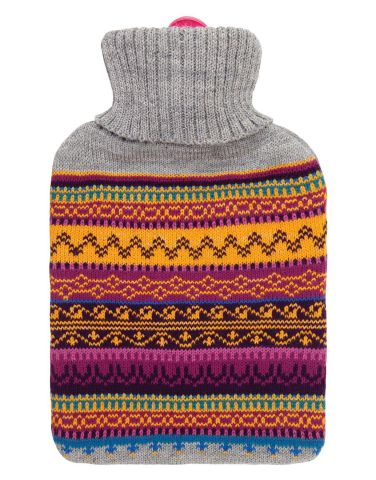 Fragranced Hot Water Bottle with Knitted Cover INDIAN