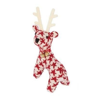 Adorable red and white knitted reindeer.  Fab gift.
