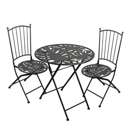 Monstera Design Bistro Chair Garden Furniture Set Patio Set