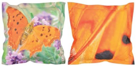 Outdoor garden cushion with butterfly design. 42 x 42cm.