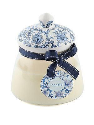 Lovely Glass ceramic candle jar with Sandalwood fragranced candle.  Great gift