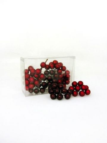 Red Berry Cluster Christmas Picks x 9 for Crackers Wreaths