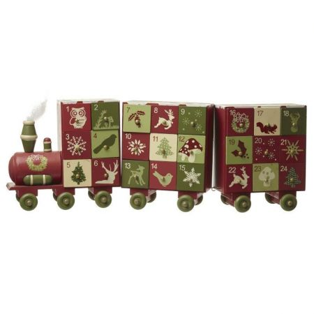 Handcrafted Advent Train and Carriages