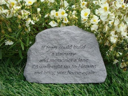If Tears Could Build a Stairway Memorial Stone.  16 x 11cm approx
