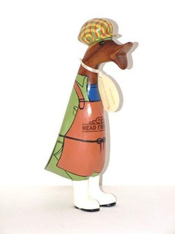Hand carved and painted head brewer duckling by DCUK