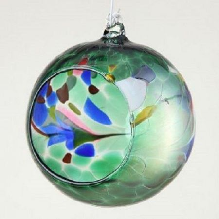 Artisan Handmade Glass Bauble Tealight Holder x 1. 5 Colours to choose from
