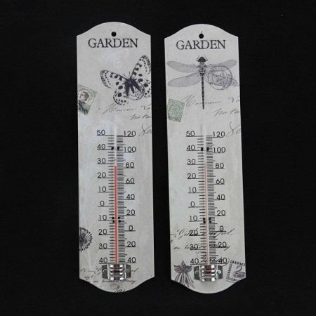 Gisela Graham Insect Postcard Metal Thermometer, DRAGONFLY
